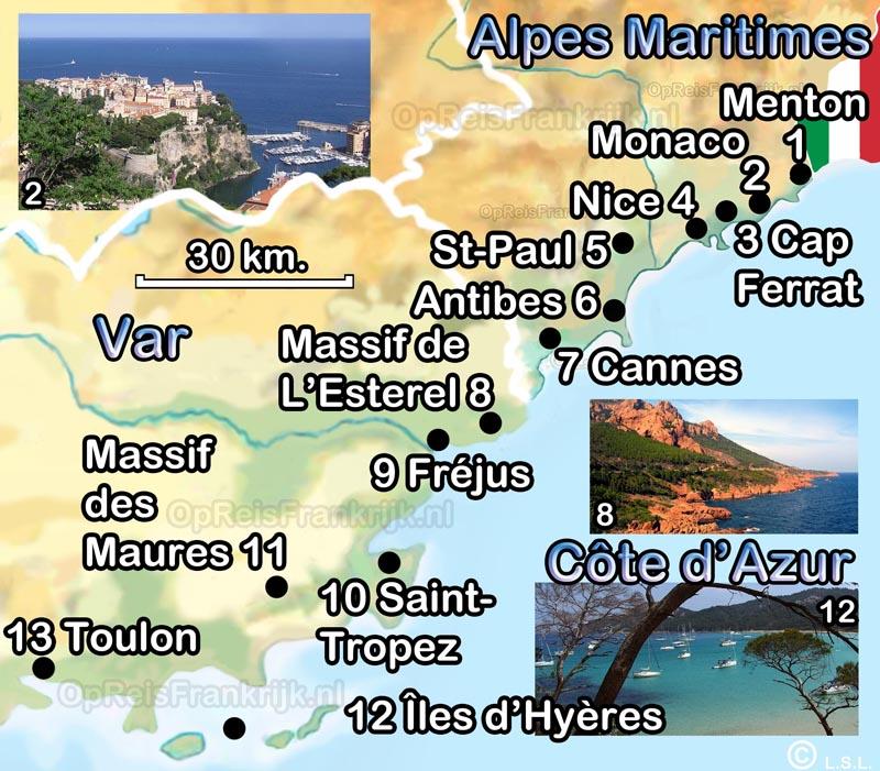 Cote D Azur Op Reis Frankrijk