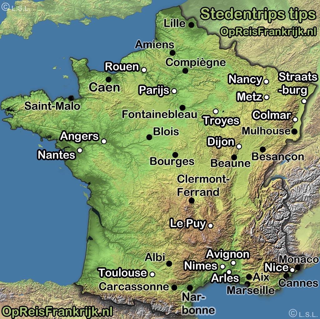 Stedentrips Op Reis Frankrijk